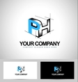 Ph Letters Logo Design vector image vector image
