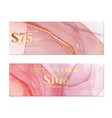 pink watercolor banner business pattern creative vector image
