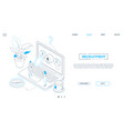recruitment - line design style isometric web vector image vector image