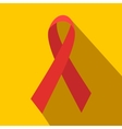 Red ribbon flat icon vector image vector image