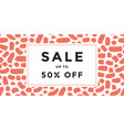 sale banner design vector image