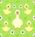 seamless background with funny goose vector image vector image