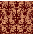 Seamless brown floral lace pattern vector image vector image