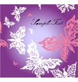 seamless butterfly background vector image vector image
