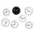 set isolated clock dials vector image
