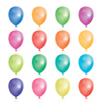 Set of 16 party balloons vector image vector image