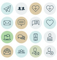 set of 16 social network icons includes text vector image vector image