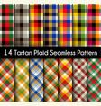 set tartan seamless pattern seamless tartan vector image vector image