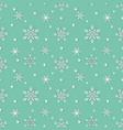 snowflakes seamless repeating pattern vector image vector image