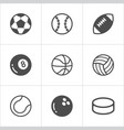 sport balls trendy flat icons eps10 vector image vector image