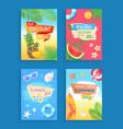 summer sale banner promotion leaflet sample vector image vector image