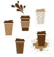 takeaway coffee cup vector image vector image