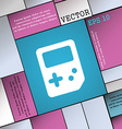 Tetris icon sign Modern flat style for your design vector image vector image