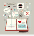 The Concept of Modern Medicine vector image vector image