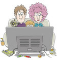 tv viewers vector image