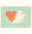 valentine greeting card heart stencil splash vector image vector image
