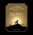 Vintage Halloween invitation with howling werewolf vector image vector image