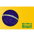 Welcome to Brazil Patriotic banner for website vector image vector image