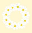 white cosmos flower wreath vector image
