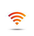 wifi sign wi-fi symbol wireless network vector image