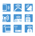 Wireless equipment buttons vector image vector image