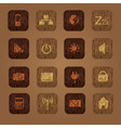 wood texture computer buttons eps10 vector image vector image