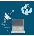 World satellite TV vector image vector image