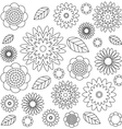 adult coloring book page irregular floral pattern vector image