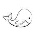 cute whale cartoon vector image