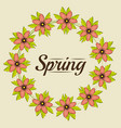 floral spring graphic design vector image