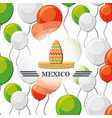 mexico seamless pattern background vector image