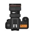 Retro Photo Camera Icon on White Background vector image