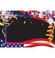4th july usa independence day template with vector image vector image