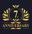 7th anniversary logo 7 years anniversary design