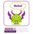 a monster saying hello vector image