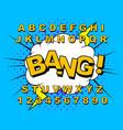 alphabet comic retro vector image vector image