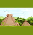 ancient mayan pyramids in vector image vector image