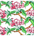 appleflower sketch pattern1-10 vector image vector image