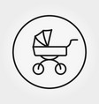 baby carriage universal icon editable vector image vector image