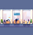 bank office interior professional management vector image