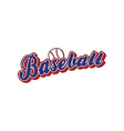 baseball league sport theme vector image