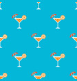 beach drinks seamless pattern for use as wrapping vector image