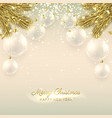 Beautiful Christmas banner with glass balls vector image vector image