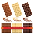 Big collection of chocolate vector image vector image