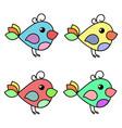 birdie social network symbol vector image