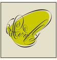 Calligraphic butterfly in green vector image vector image