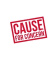Cause For Concern rubber stamp vector image vector image