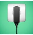 Charger into an electrical outlet vector image