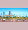 cityscape background modern city panorama vector image