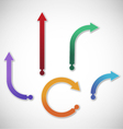 collection gradient arrows vector image vector image